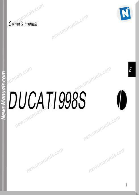 Ducati 998S 02 Owners Manual