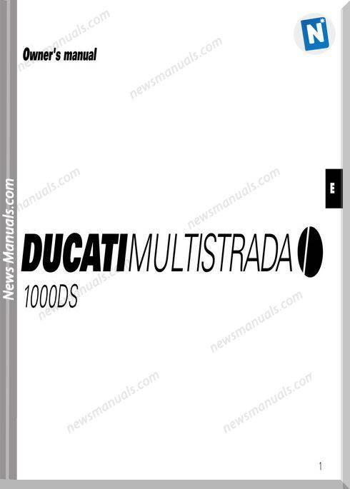 Ducati Multistrada 1000Ds Owners Manual