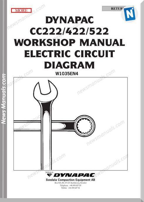 Dynapac Cc222 Cc422 Cc522 Electrical Schematics