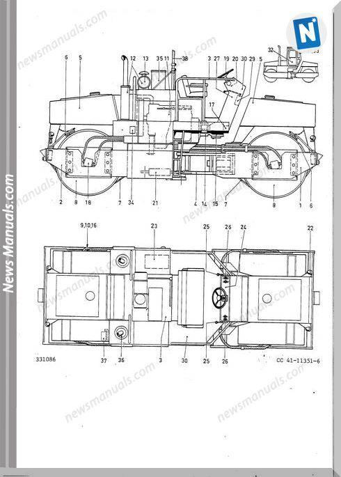 Dynapac Model Cc41 Vibrating Roller Parts Catalogue