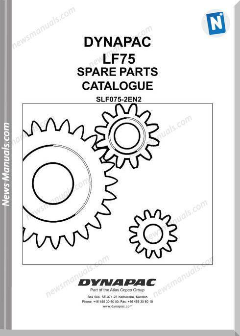 Dynapac Model Lf75 Parts Manual