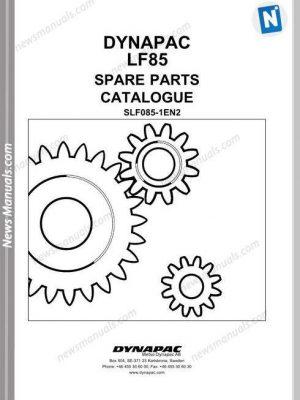 Dynapac Model Lf85 Parts Manual