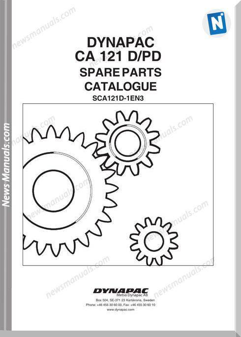 Dynapac Models Ca121D Parts Catalogue