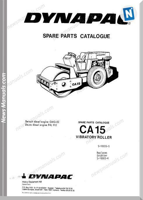 Dynapac Models Ca15 2 Parts Catalogue