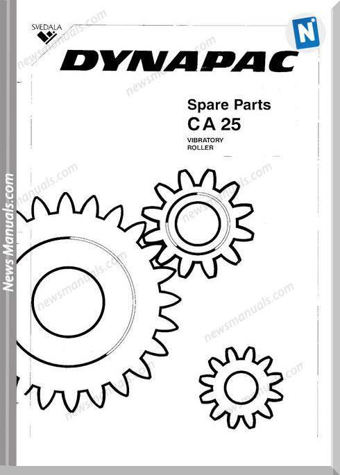 Dynapac Models Ca25 6 Parts Catalogue