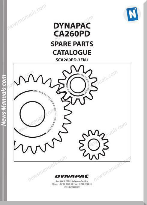 Dynapac Models Ca260Pd Parts Catalogue