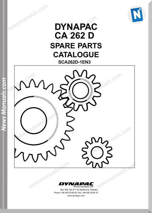 Dynapac Models Ca262 Parts Catalogue