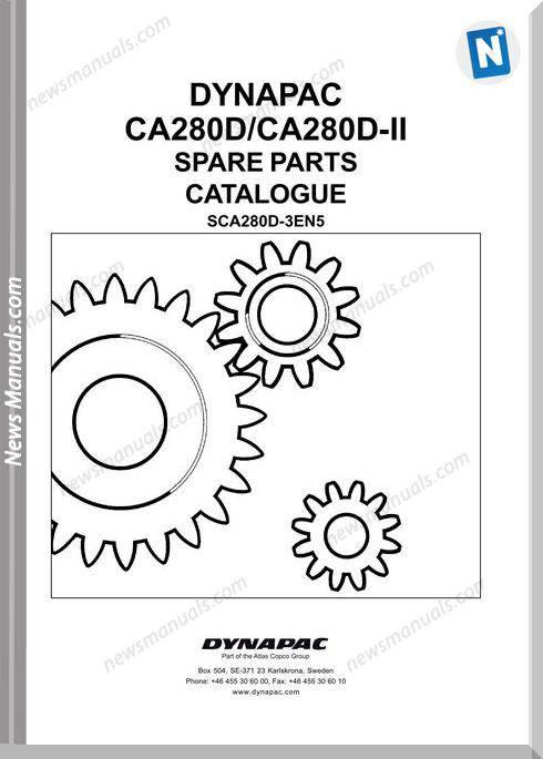 Dynapac Models Ca280D Ii Parts Catalogue