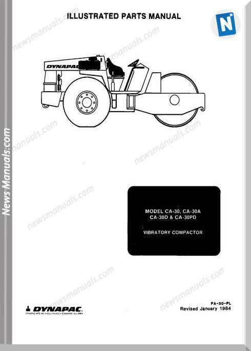 Dynapac Models Ca30 Parts Catalogue