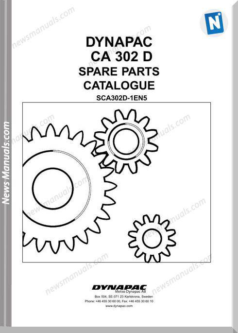 Dynapac Models Ca302 Parts Catalogue
