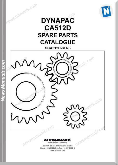 Dynapac Models Ca512 3 Parts Catalogue