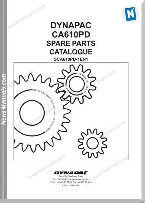 Dynapac Models Ca610Pd Parts Catalogue