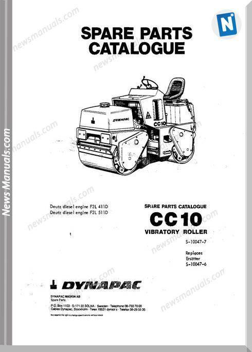 Dynapac Models Cc10 Parts Catalogue