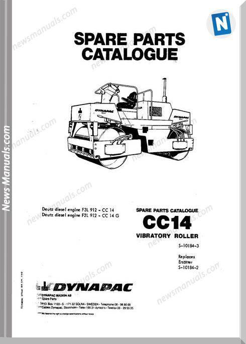 Dynapac Models Cc14 Parts Catalogue
