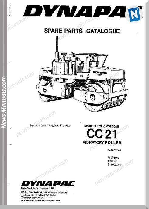 Dynapac Models Cc21 Parts Catalogue