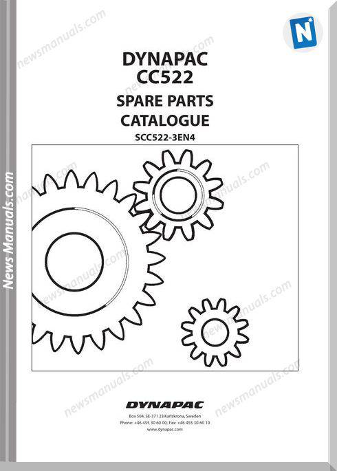 Dynapac Models Cc522 3 Parts Catalogue