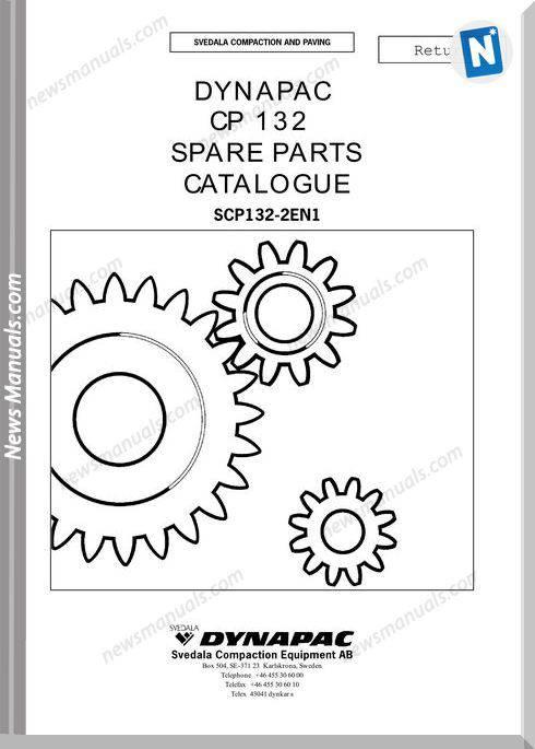 Dynapac Models Cp132 3 Parts Catalogue