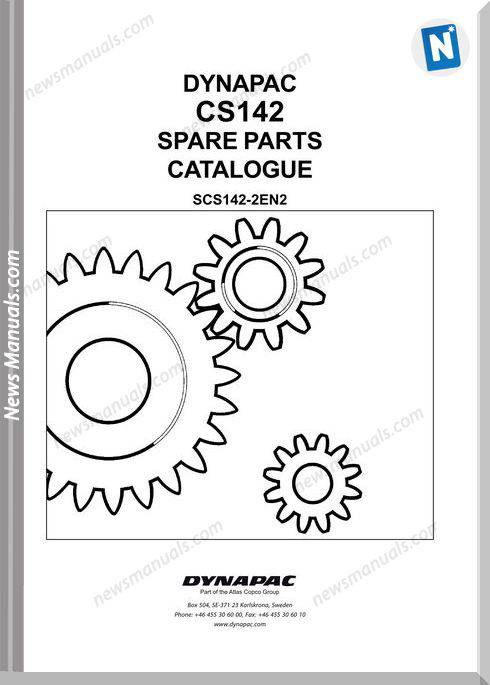 Dynapac Models Cs142 2 Parts Catalogue