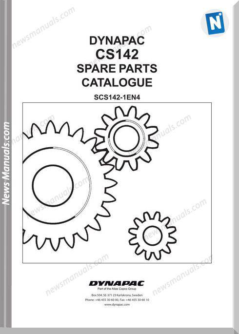 Dynapac Models Cs142 Parts Catalogue
