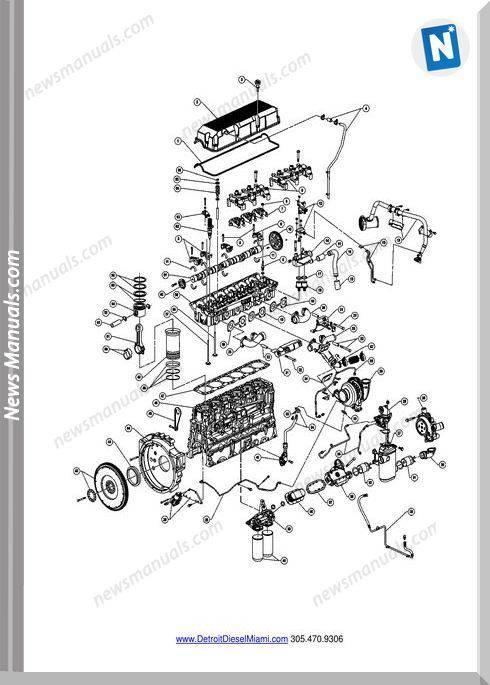 Engine Detroit S60 (11.1L 12.7L) Part Catalog