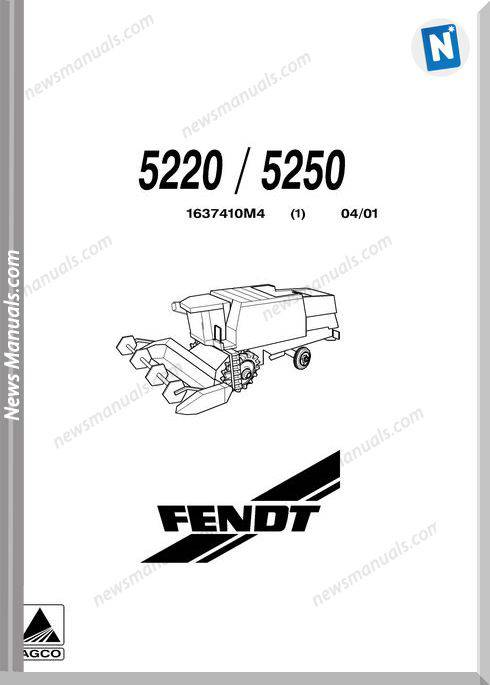 Fendt Combine Harvester 52205250 Parts Manual
