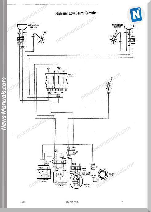 Fiat 124 Spider 1979 Wiring Diagrams
