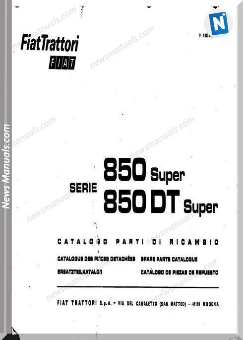 Fiat 850-Super 850Dt-Super Fr Language Parts Catalog
