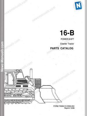 Fiat Allis Crawler Model 16B Powershift Parts Catalog