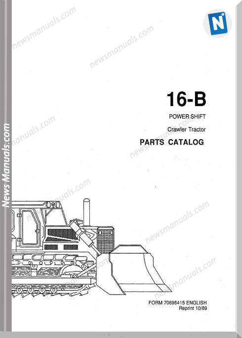 Fiat Allis Crawler Model 16B Powershift Parts Catalog