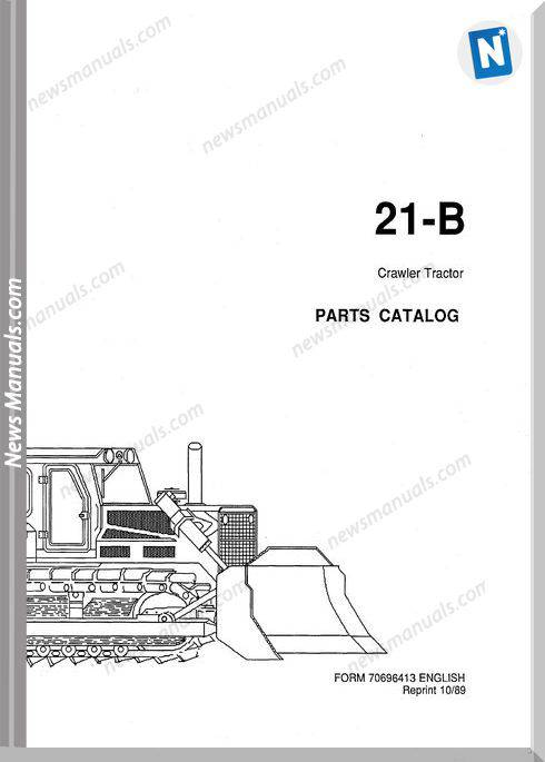 Fiat Allis Crawler Model 21B German Parts Catalogue
