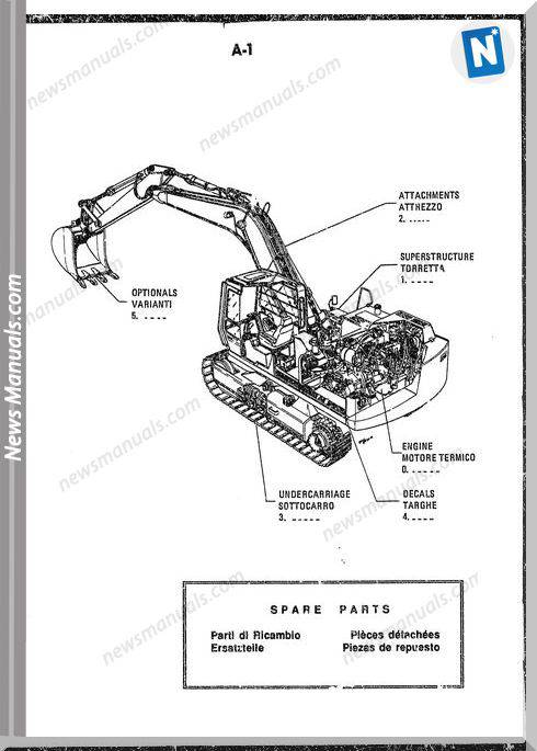 Fiat Allis Excavator Model Fh120 Parts Catalogue