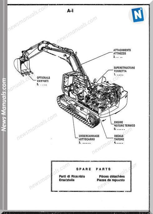 Fiat Allis Excavator Model Fh200 Parts Catalogue