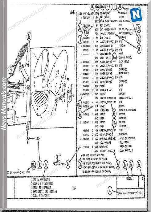 Fiat Allis Fr12B Models Wheel Loader Parts Manuals