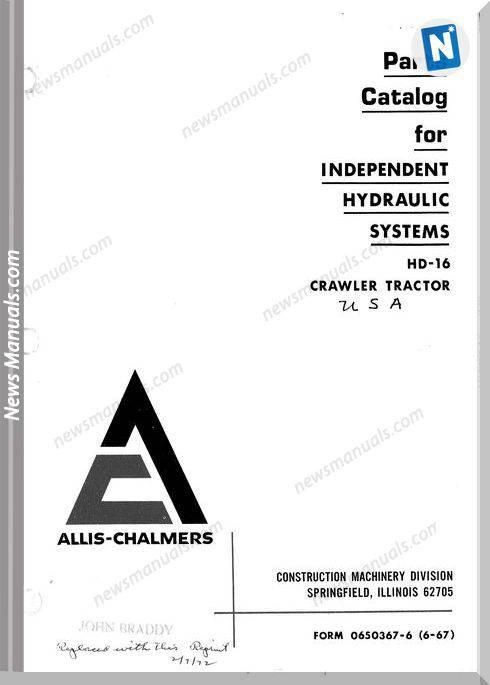 Fiat Allis Hd16 Independent Hydraulic Crawler Tractor