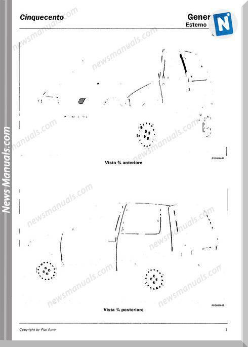 Fiat Cinquecento Models French Workshop Manuals