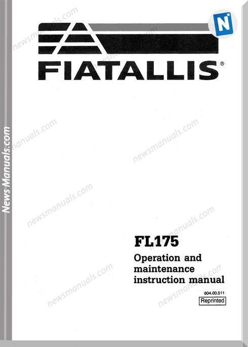 Fiat Fl175 Om Maint Instr Manual