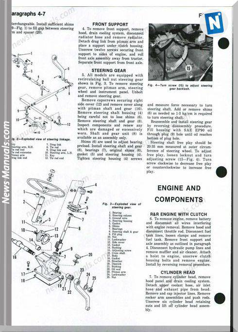 Ford 1000 1600 Shop Manual