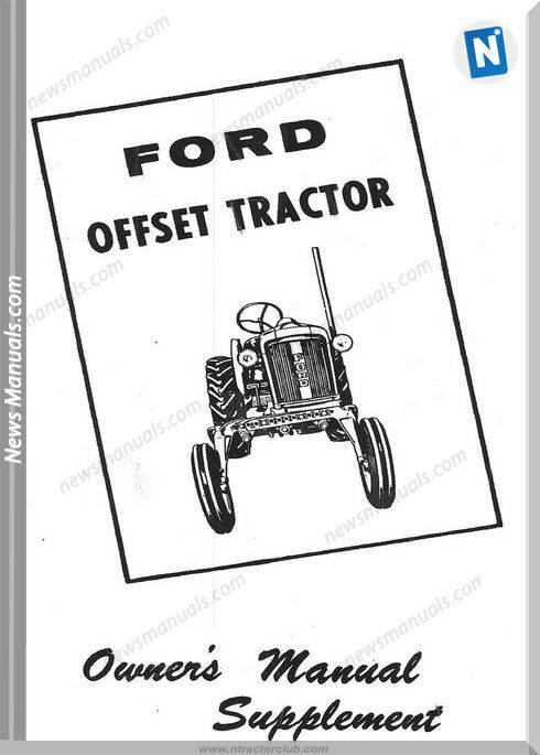 Ford 2000 Offset Tractor Owners Manual Supplement