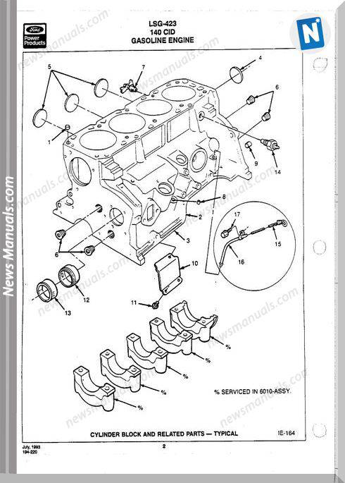 Ford 423 Lsg Engine Parts Service Manual