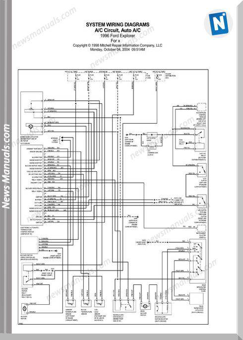 Ford Explorer 1996 Electrical Diagrams In En