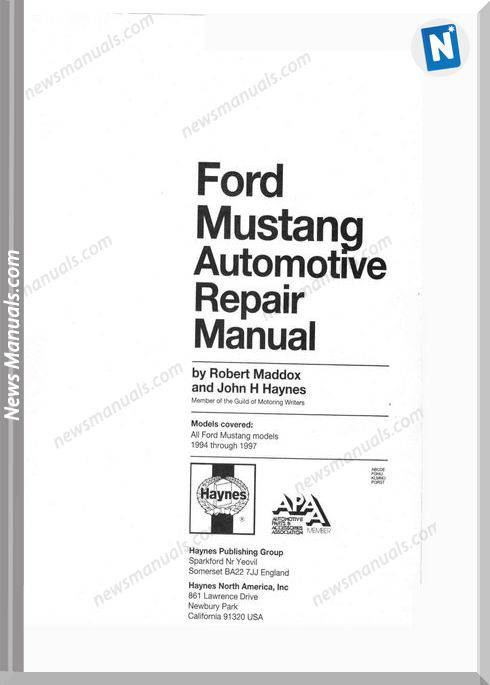 Ford Mustang 94-97 Repair Manual