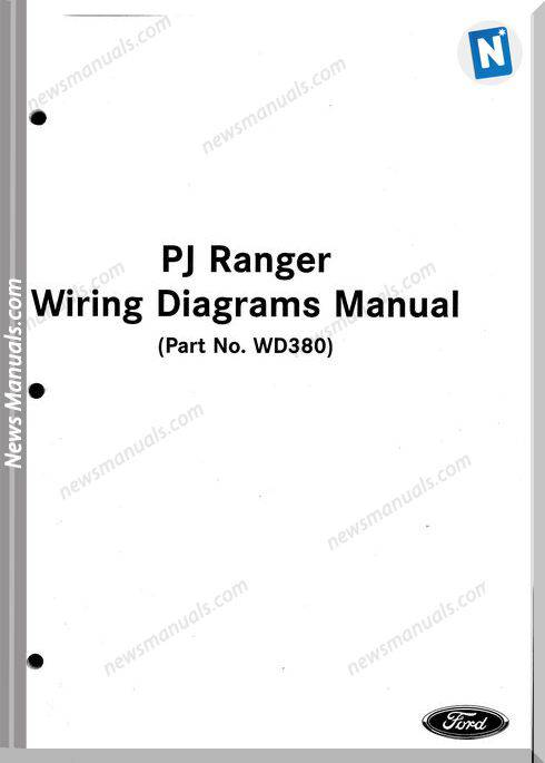 Ford Ranger Models 2005 Year Wiring Diagrams Manual