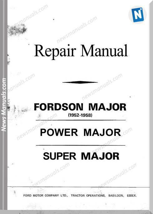 Ford Son Major Repair Manual 1952-1958