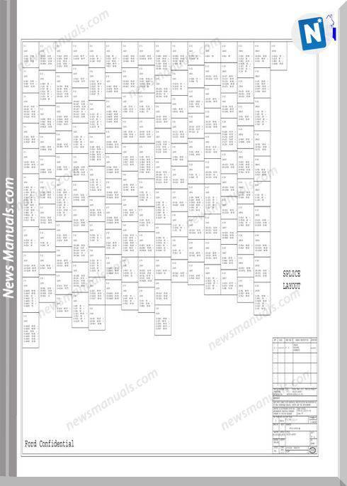Ford Transit 2001 (V184) Physical Wiring Diagram