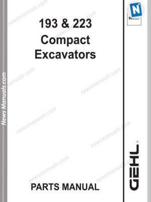 Gehl 193 223 Compact Excavator Parts Manual 909827