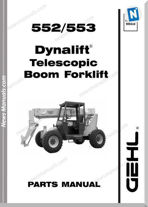 Gehl 552 553 Dynalift Telescopic Boom Parts Manual