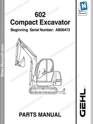 Bobcat S300 Skid Loader Parts Manual