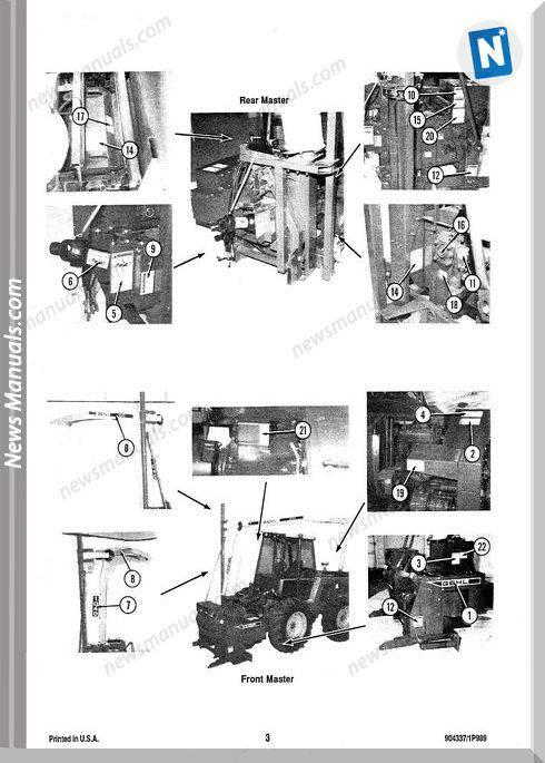 Gehl Agri 1040 Forage Harvester Parts Manual 904337