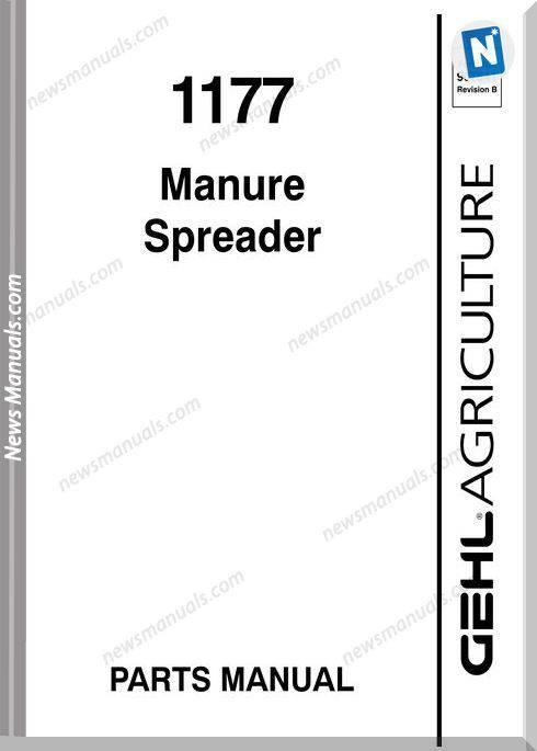 Gehl Agri 1177 Manure Spreader Parts Manual 907541