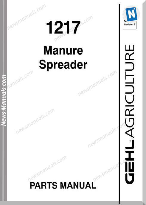 Gehl Agri 1217 Manure Spreader Parts Manual 907542